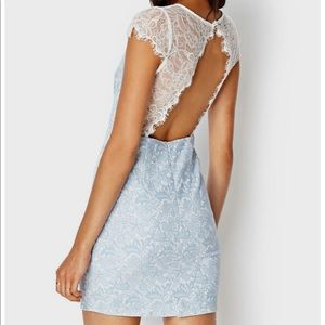 Forever 21 Pale blue Open back lace dress